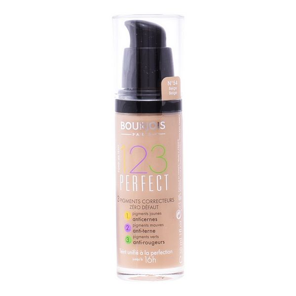 Fond de Ten Fluid 123 Perfect Bourjois Spf 10 1